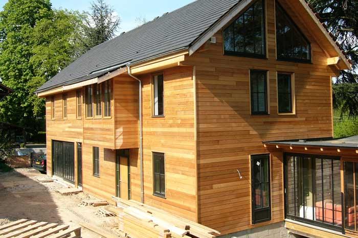 Construction d'une maison en bois