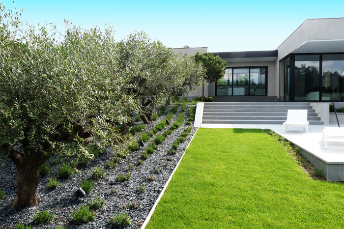 Jardin terrasse piscine et ext rieur architecte de maisons for Jardin maison contemporaine