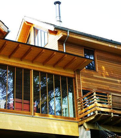 Volumes d'une maison en bois
