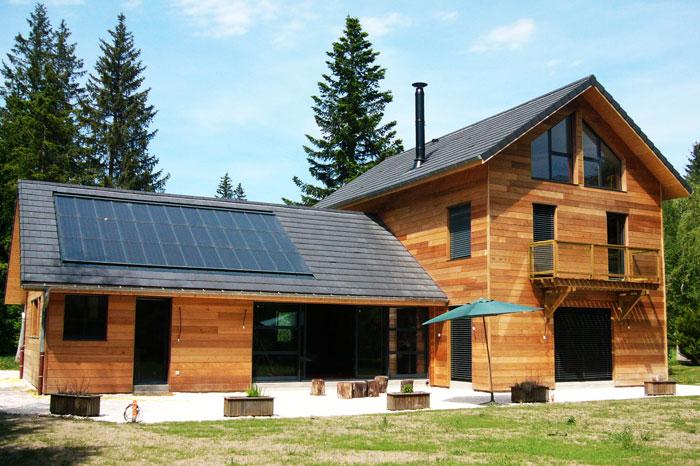 Maison contemporaine architecte de maisons - Prix panneau solaire pour maison ...