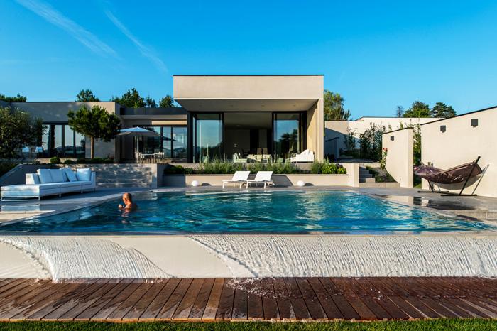 Jardin terrasse piscine et ext rieur photos for Maison moderne jardin