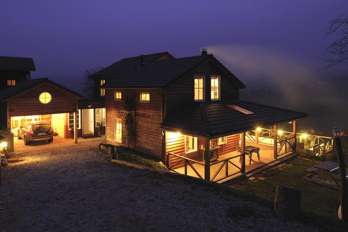 Maison de montagne avec une excellente isolation