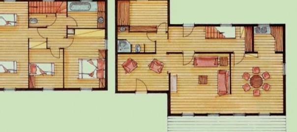 Plan au sol d'une maison réalisée par un architecte